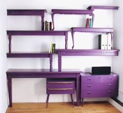 pruple bookcases