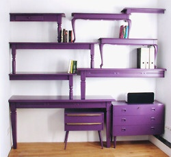 pruple bookcases