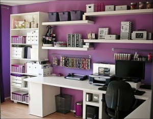 purple writer's room