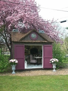 purple writer's shed