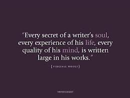 every secret of a writer's soul