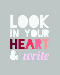 look in your heart and write