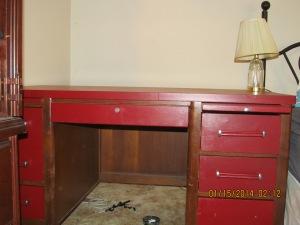 My red desk