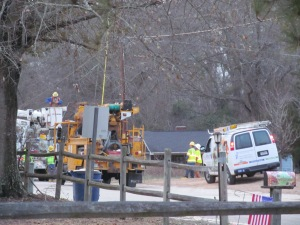 Powerline guys  restoring my power in South Carolina. #WinterMess