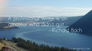 a professional writer is an amatuer who didn't quit
