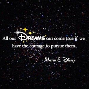 disney dream quote