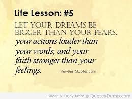 life lesson dream