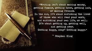 Writing isn't about making money