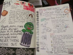 Journal page with Journal Prompts
