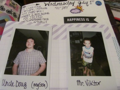 Pics of my son and grandson/journal tip-in